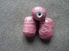 kerámia gyöngy rózsaszín