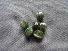 kerámia gyöngy zöld