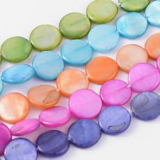 kagylógyöngy: tallér 10 mm zafírkék