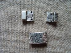 mágneses kapcsoló 10 mm bőr karkötő alaphoz szivecskés
