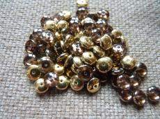 lencse alakú gyöngy amethyst brass 30 db
