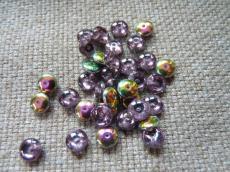 lencse alakú gyöngy amethyst vitrail 30 db