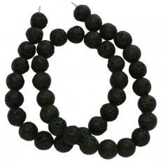 fekete lávakő 8 mm szál