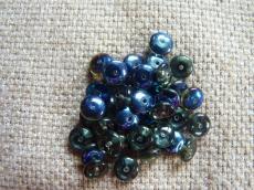 lencse alakú gyöngy black diamond-azuro 30 db
