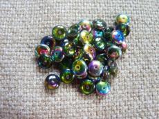 lencse alakú gyöngy black diamond-vitrail 30 db