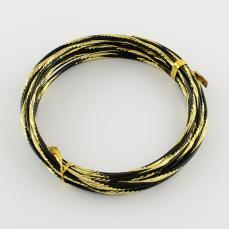 2,0 alumínium drót vésett fekete-arany