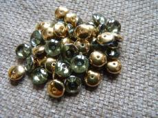 lencse alakú gyöngy light sapphire brass 30 db