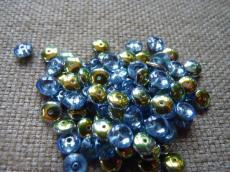 lencse alakú gyöngy light sapphire vitrail 30 db