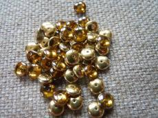 lencse alakú gyöngy topáz brass 30 db