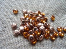lencse alakú gyöngy topáz capri gold 30 db
