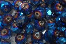 8 x 6 mm metál sötét türkizkék donut 10 db másodosztályú