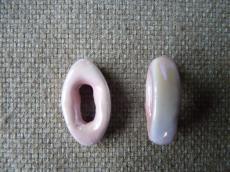 hosszúkás navette porcelán köztes világos rózsaszín AB