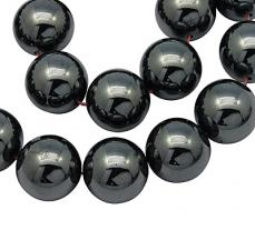 szintetikus hematit gyöngy 8 mm 10 db