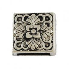 négyzet virágmintás köztes bőrhöz 13 mm