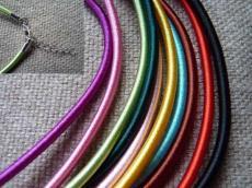 3 mm-es nyaklánc alap piros