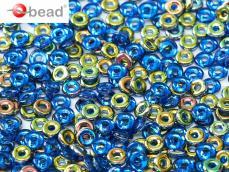 O-bead: zafírkék vitrail 2,5 g