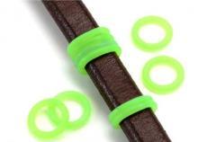 gumi köztes ovális bőrhöz kisebb zöld 2 db