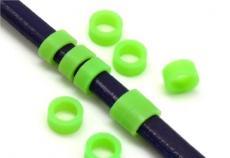 gumi köztes ovális bőrhöz szélesebb zöld 2 db