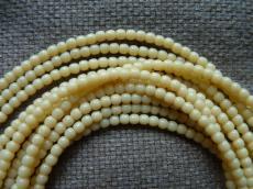 3 mm kerek gyöngy telt krém 50 db