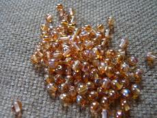 4 mm kerek gyöngy apricot AB 50 db