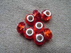 Pandora kristály gyöngy piros