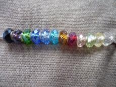 Pandora kristály gyöngy zöld