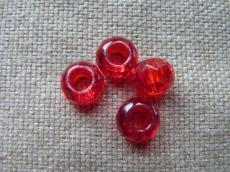Pandora üveggyöngy piros/cseh