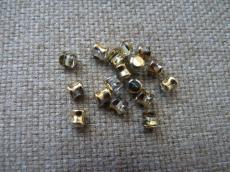 pellet gyöngy kristály-arany 20 db