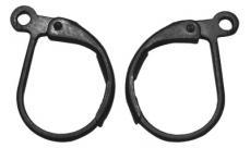 patentzáras fülbevaló alap: fekete sima 2 p.