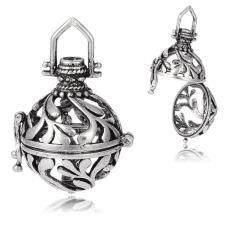 Angyalhívó medál antik ezüst