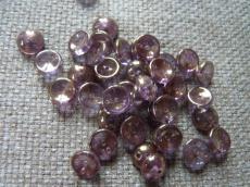 piggy gyöngy bronz lüszteres kristály (vega) 20 db