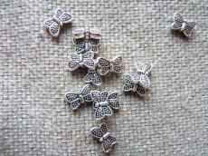 antik ezüst pillangó 10 db