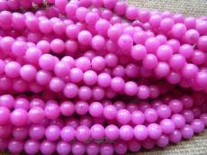 erős pink jade utánzat 6 mm