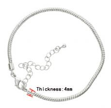 Kígyó karkötő alap ezüst 16 cm