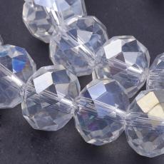 12 x 8 mm kristály AB donut 10 db