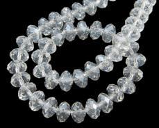 10 x 7 mm kristály-hematit donut 10 db