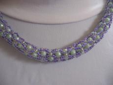 zöld-lila hurka nyaklánc
