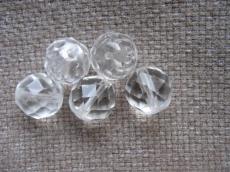 csiszolt gyöngy 10 mm: kristály 5 db