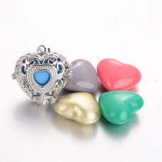 Angyalhívó medál szív rhodium színű/sz