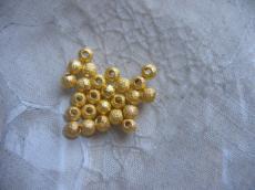 6 mm csillagporos arany gömb 20 db