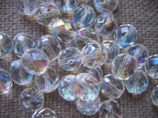 csiszolt gyöngy 8 mm kristály AB 20 db