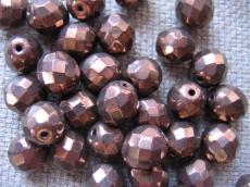 csiszolt gyöngy 10 mm bronz 5 db