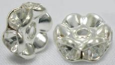 strasszos rondell 10 mm: áttetsző