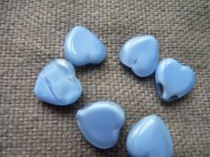 kék szivecske 5 db