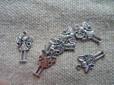 antik ezüst kislány medál vagy fityegő 5 db