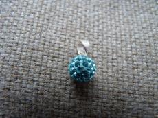 swarovski gömb aquamarine