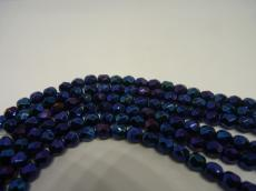 csiszolt gyöngy 6 mm: kék írisz 25 db