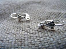 patentzáras fülbevaló alap: ezüst színű 2 p.