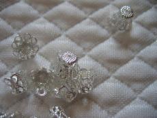 gyöngykupak: harang alakú filigrán ezüst 10 db