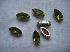 fűzhető foglalatos navette olivine
